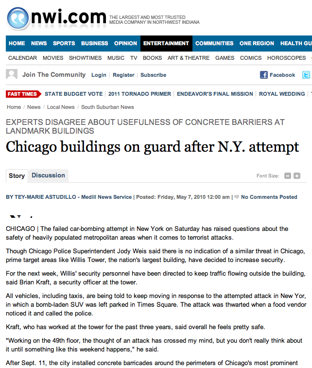 Chicago on guard after N.Y. attempt_NWI